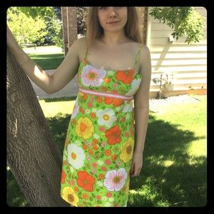 Dresses & Skirts - Inside out sun dress, 60's retro floral/ Hawaiian